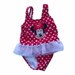 Girl's Disney Baby Minnie Mouse One Piece Swimsuit